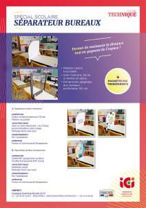 Séparateur bureaux - Scolaire